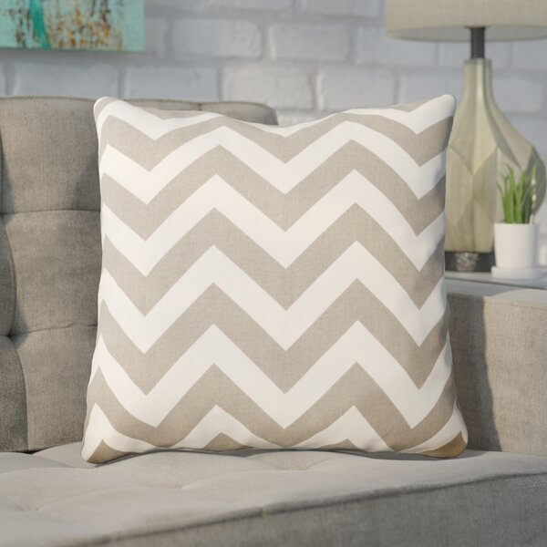 Bollin Chevron 100% Polyester Indoor Throw Pillow by Mercury Row